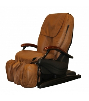 Brugt massagestol, iCare 700, brunt læder
